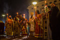 People during celebration of orthodox easter midnight office of pascha athens greece apr unknown holy saturday is often the only Stock Image