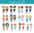 People characters,large group of people, vector background