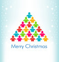 People christmas color tree with background Stock Photos