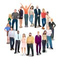 People in a circle, communication, greeting, vector Royalty Free Stock Photo