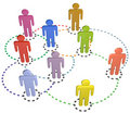 People circle connections social business network Royalty Free Stock Photo