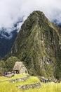 People climb up the Wayna Piccu next to Machu Picchu in Peru Royalty Free Stock Photo
