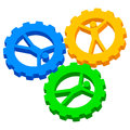 People in cog wheels icon vector illustration of Stock Images