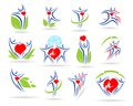 People collection medical icons this is file of eps format Royalty Free Stock Photo