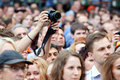 People at concert of Chaif rock-band Royalty Free Stock Photo