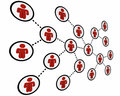 People Connected Social Network Friends Linked Royalty Free Stock Photo