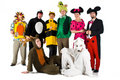 People in Costumes Royalty Free Stock Image