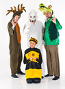 People in Costumes Royalty Free Stock Images