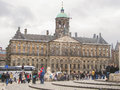 People on the dam square in front of amsterdam royal palace n netherlands february netherlands Stock Image