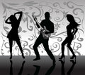 People dancing Royalty Free Stock Photo