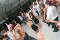 People dancing at bar moscow russia june the party in Stock Photography