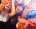 People dancing in a bar or nightclub at a party Royalty Free Stock Photos