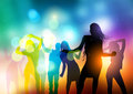 People Dancing Vector Royalty Free Stock Photo