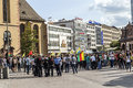 People demonstrate against murder and violation of kurdish peopl frankfurt germany august killing by is soldiers in frankfurt Royalty Free Stock Photo