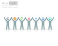 People of different religions. Religion vector symbols and characters. friendship and peace for different creeds Royalty Free Stock Photo