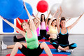 People doing stretching exercise Stock Photo