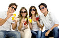 People drinking cocktails Stock Photography