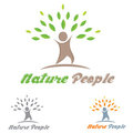People Eco Logo Stock Image