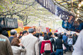 People enjoy cherry blossoms sakura in ueno park tokyo japan april is visited by up to million for annual Stock Photography