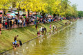 People enjoy splashing water together in songkran festival chiang mai thailand april on april chiang mai thailand Royalty Free Stock Images