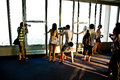 People enjoy the view overlooking bangkok s skyline thailand january tourists Royalty Free Stock Photo