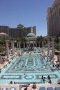People enjoying pool Ceasar`s Palace Vegas Royalty Free Stock Photo