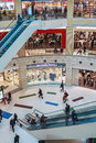 People enter to metropolis shopping center in moscow russia march the largest and entertainment Royalty Free Stock Image