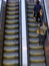 People on escalators Royalty Free Stock Photo