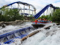 People Experience Water Ride S...