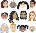 People Faces 3 Royalty Free Stock Photo