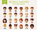People faces. Set of flat vector avatars.