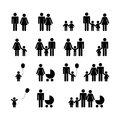 People Family Pictogram. Set Royalty Free Stock Photo