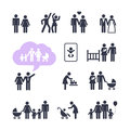 People family pictogram set web icon Stock Photos