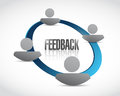 People feedback cycle illustration design Royalty Free Stock Images