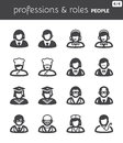 People flat icons professions and roles set of about Royalty Free Stock Image