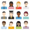 People Flat Icons Vector Set