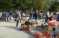 People on the flea market karlsruhe germany – september weekend at messplatz september in karlsruhe germany in at messplatz Stock Photo