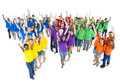 People forming to continent map Royalty Free Stock Image