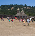 People in Fort Ross at Fort Ross 200 annivercary Royalty Free Stock Images