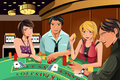 People gambling in casino Royalty Free Stock Images