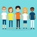 People in Generation Z .illustration EPS 10.