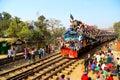 People going to ijtema global congregation event bishwa or bishsho istema bengali বিশ্ব ইজতেমা the world or Royalty Free Stock Photography
