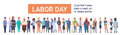 People Group Different Occupation Set, International Labor Day