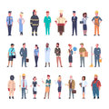 People Group Different Occupation Set Workers Profession Collection Royalty Free Stock Photo