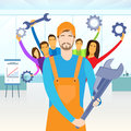 People Group Service Technical Support Team Hold Royalty Free Stock Photo