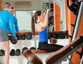 People at gym young sporty exercising Stock Image