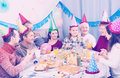 People are happy to celebrate children's birthday