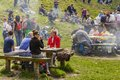 People having picnic unidentified relax socialize and on weekends at solomon s stones gorge a well known tourist attraction in Stock Image