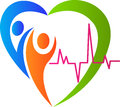 People heart care a vector drawing represents design Stock Photos