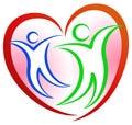 People Heart Shape Logo